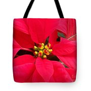 Brightest Red Poinsettia Tote Bag