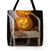 Brightly Lit Jack O Lanterns Tote Bag