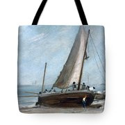 Brighton Beach With Fishing Boats Tote Bag