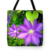 Brilliant Blue Clematis Tote Bag