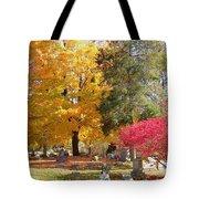 Brilliant Colors In The Cemetery  Tote Bag