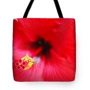 Brilliant Red Hibiscus Tote Bag