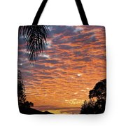 Brilliant Sunset During Winter Tote Bag