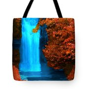 Brilliant Waterfall In Autumn Tote Bag