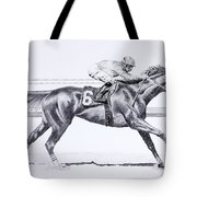Bring On The Race Zenyatta Tote Bag