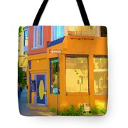 Bring Your Own Wine Restaurant Vents Du Sud Rue Roy Corner French Cafe Street Scene Carole Spandau Tote Bag