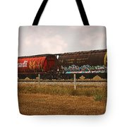 Bringing In The Wheat Canadian Railroad Tote Bag