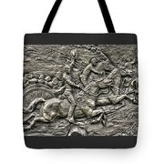 Bringing Up The Battery Detail-b 6th New York Independent Battery Horse Artillery Gettysburg Autumn Tote Bag
