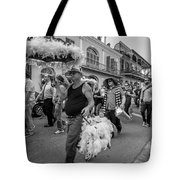 Bringing Up The Rear Monochrome Tote Bag