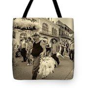 Bringing Up The Rear Sepia Tote Bag