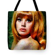 Brit Ekland - Abstract Expressionism Tote Bag