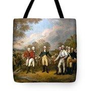 British General John Burgoyne Surrenders At Saratoga Tote Bag