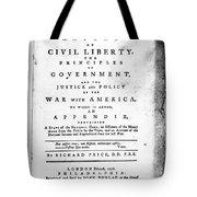 British Pamphlet, 1776 Tote Bag