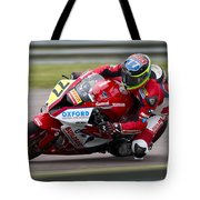 British Superbike Rider Barry Burrell   Tote Bag