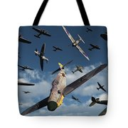 British Supermarine Spitfires Attacking Tote Bag