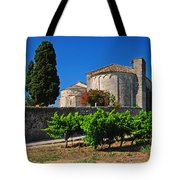 Brittany Vineyard And Monastery  Tote Bag