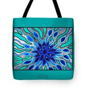 Broken Angel Blooms Tote Bag by Barbara St Jean