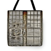 Broken Blinds At The Train Station By Diana Sainz Tote Bag