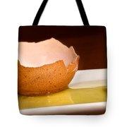 Broken Brown Egg  Tote Bag
