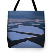 Broken Fast Ice Under Midnight Sun East Tote Bag