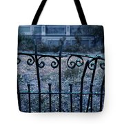 Broken Iron Fence By Old House Tote Bag