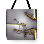 Broken Jewelry-fractal Art Tote Bag by Lourry Legarde