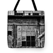 Broken Windows In Black And White Tote Bag
