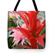 Bromeliad Red Pink Brick Tote Bag