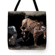 Bronco Busted Tote Bag by Daniel Hagerman