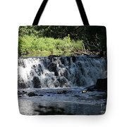 Bronx River Waterfall Tote Bag by John Telfer