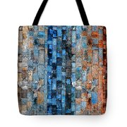 Bronze Blue Wall Tote Bag