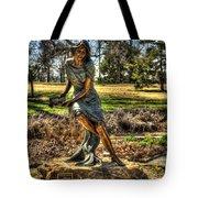 Bronze Girl At Woodward Park Tote Bag