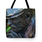 Bronze Man Sitting Tote Bag