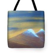 Bronze Mountains Tote Bag