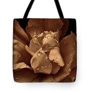 Bronze Ruffled Parrot Tulip Flower Tote Bag