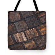 Bronze Tile Squares Tote Bag
