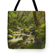 Brook In The Forest Tote Bag