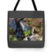 A Brook In The Wicklow Mountains, Ireland Tote Bag