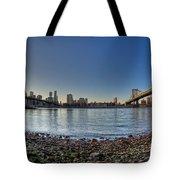Brooklyn And Manhattan Bridge Fisheye Tote Bag