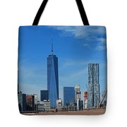 Brooklyn Bridge And Lower Manhattan Tote Bag