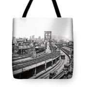 Brooklyn Bridge And Terminal - 1903 Tote Bag