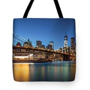 Brooklyn Bridge At Dusk Tote Bag