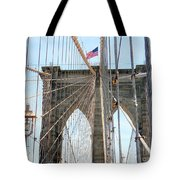 Brooklyn Bridge Cables Tote Bag