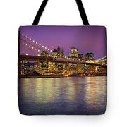 Brooklyn Bridge Tote Bag by Inge Johnsson
