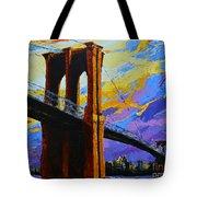 Brooklyn Bridge New York Landmark Tote Bag
