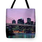 Brooklyn Bridge New York Ny Usa Tote Bag