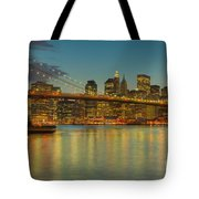 Brooklyn Bridge Twilight Tote Bag