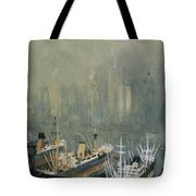 Brooklyn Harbor Circa 1921  Tote Bag by Aged Pixel
