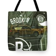 Brooklyn Nets Tote Bag by Karol Livote