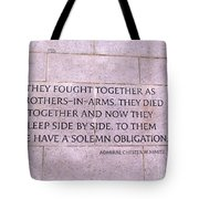 Brother's In Arms  Tote Bag